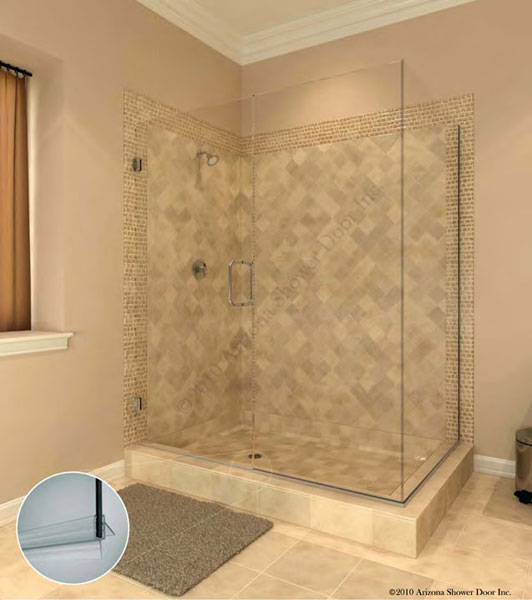 A Plus Quality Glass Frameless Euro Shower Door